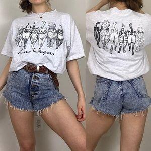 Vintage Las Vegas Single Stitch Cat Butt T-Shirt